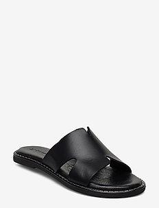 Woms Slides - flate sandaler - black