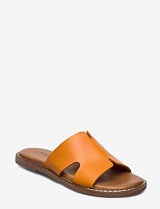 Woms Slides - flade sandaler - orange