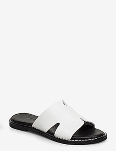 Woms Slides - flate sandaler - white
