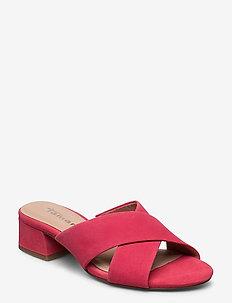 Woms Slides - høyhælte sandaler - coral