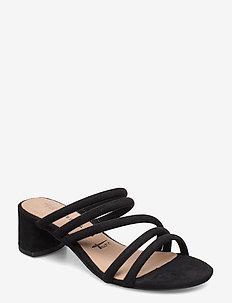 Woms Slides - hoge sandalen - black
