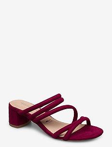 Woms Slides - høyhælte sandaler - cranberry