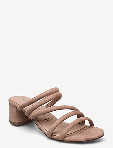 Woms Slides - heeled sandals - old rose