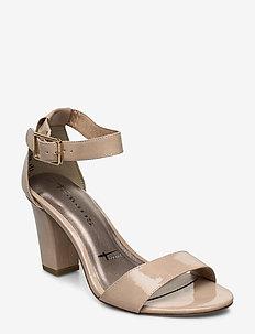 Woms Sandals - høyhælte sandaler - nude patent