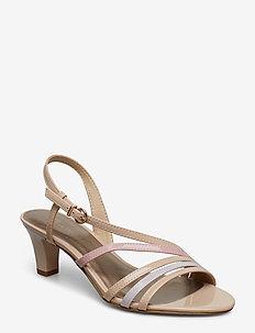 Woms Sandals - NUDE PAT. COMB