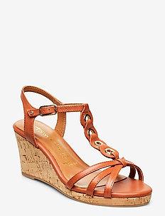 Woms Sandals - compensées - brandy