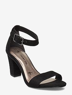 Woms Sandals - høyhælte sandaler - black suede
