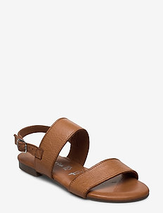 Woms Sandals - flate sandaler - cuoio