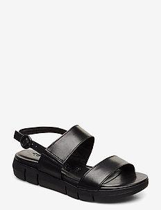 Woms Sandals - platte sandalen - black