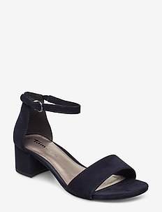 Woms Sandals - høyhælte sandaler - navy