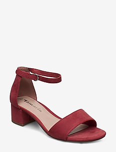 Woms Sandals - høyhælte sandaler - pale ruby