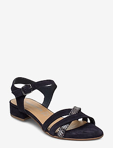 Woms Sandals - NAVY/SNAKE