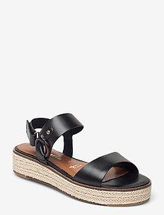 Woms Sandals - flade espadrillos - black