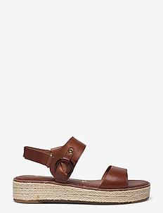 Woms Sandals - flache espadrilles - brandy