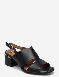 Woms Sandals - slingbacks - black plain