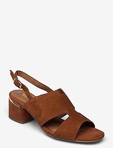 Woms Sandals - sling backs - brandy suede