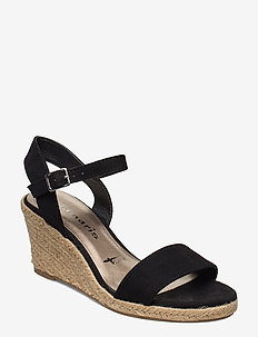 Woms Sandals - espadrilles med hæl - black