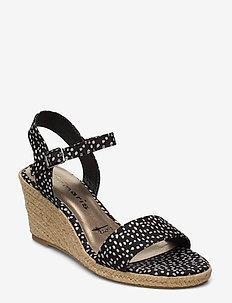 Woms Sandals - espadrilles med hæl - black dots