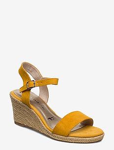 Woms Sandals - espadrilles med hæl - mustard