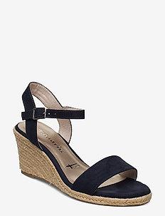 Woms Sandals - espadrilles med hæl - navy