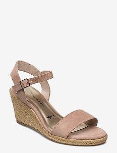 Woms Sandals - espadrilles med hæl - old rose