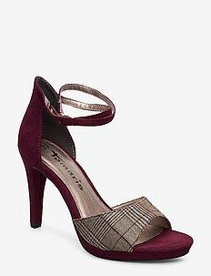 Woms Sandals - MERLOT/TARTAN