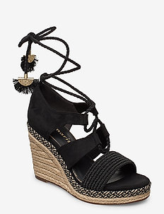 Woms Sandals - højhælede espadrillos - black