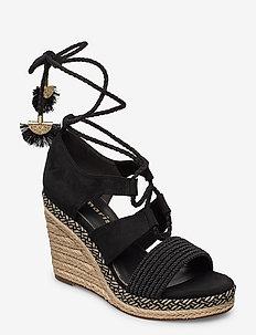 Woms Sandals - korolliset espadrillot - black