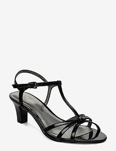 Woms Sandals - høyhælte sandaler - black patent