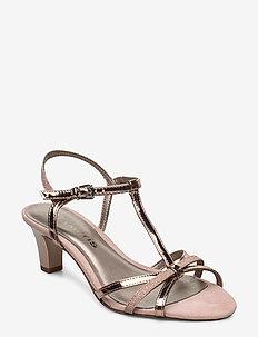 Woms Sandals - hoge sandalen - rose met. glam