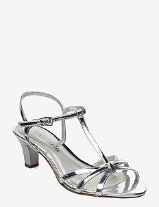 Woms Sandals - høyhælte sandaler - silver