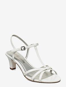 Woms Sandals - høyhælte sandaler - white patent