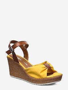 Woms Sandals - SUN/COGNAC