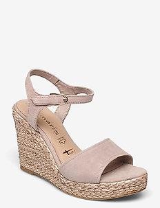 Woms Sandals - espadrilles met sleehak - old rose