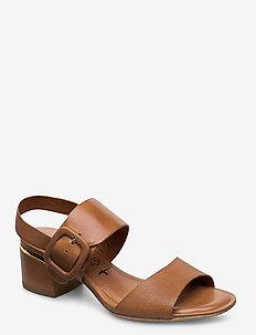 Woms Sandals - korolliset sandaalit - cognac