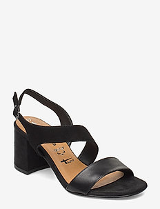 Woms Sandals - BLACK/BLK LEA.
