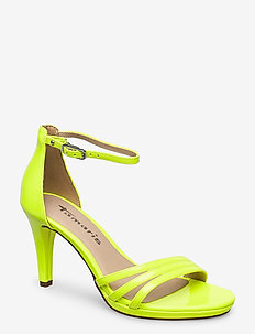 Woms Sandals - høyhælte sandaler - yellow neon
