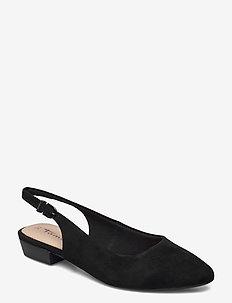 Woms Sling Back - ballerinas - black suede