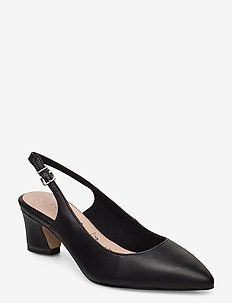 Woms Sling Back - sling backs - black leather