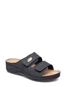 Woms Slides - flade sandaler - black