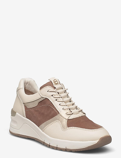 Woms Lace-up - chunky sneakers - taupe comb
