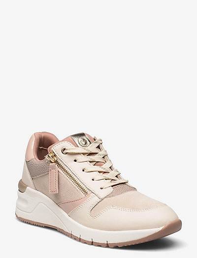 Woms Lace-up - chunky sneakers - cream/rose