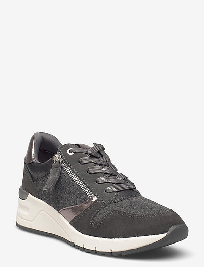 Woms Lace-up - chunky sneakers - grey felt comb