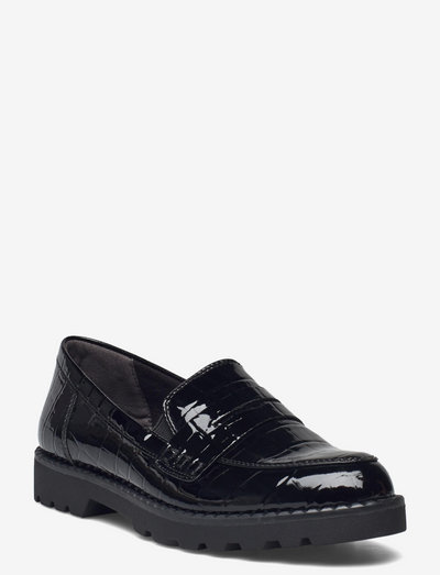 Woms Slip-on - loafers - blk/croco pat.
