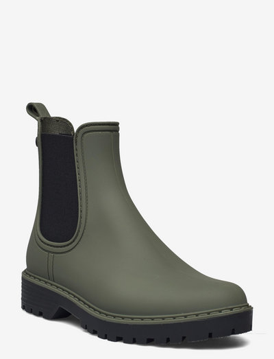 Woms Boots - chelsea boots - olive/black