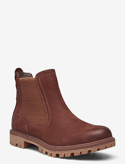 Woms Boots - Papaw - chelsea støvler - maroon