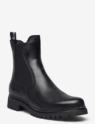 Woms Boots - chelsea støvler - black/no fur