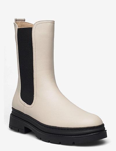 Woms Boots - chelsea støvler - ivory/black