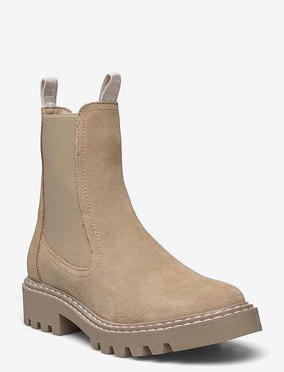 Woms Boots - chelsea støvler - beige sued.uni