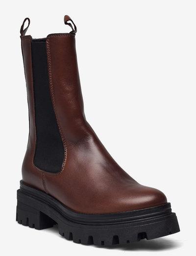 Woms Boots - chelsea støvler - cognac leather